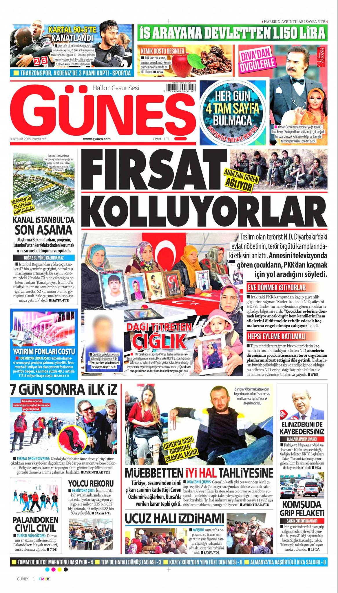 Güneş gazetesi manşet ilk sayfa oku