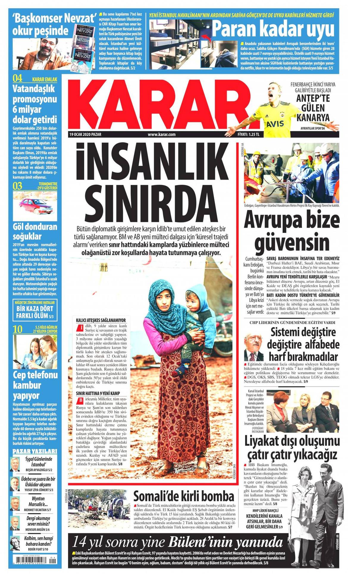 Karar gazetesi manşet ilk sayfa oku