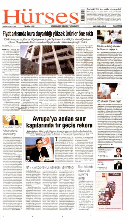 Hürses Gazetesi Manşeti