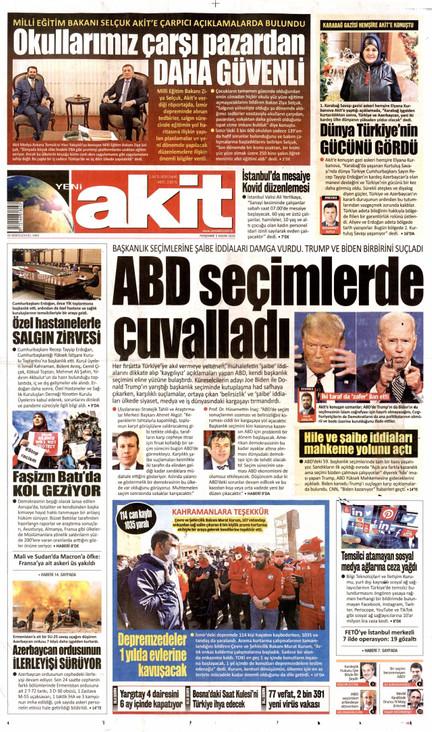 Yeni Akit Gazetesi Manşeti
