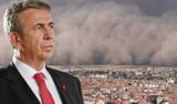 Mansur Yavaş'tan Ankara'da yaşanan kum fırtınasına ilişkin açıklama
