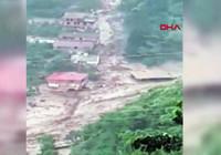 Trabzon'da 7 kişinin öldüğü sel felaketinin yeni görüntüleri ortaya çıktı