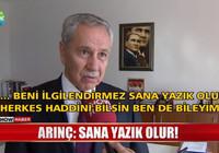 Bülent Arınç'tan Turan'a çok sert cevap: Sana yazık olur