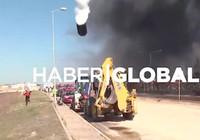 Kimyasal dolu tanker böyle havaya uçtu!