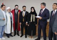 Metin Feyzioğlu resmi nikahla dini nikahın birlikte kıyıldığı törende şahitlik yaptı