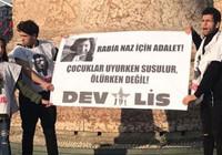 Taksim'de Rabia Naz için eylem yapan 3 kişi gözaltına alındı