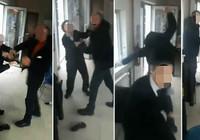 Güvenlik müdürü, kapıyı açmayan 2 kadın görevliye saldırdı