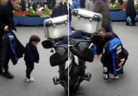 Zabıta memuru, üşüyen çocuğa montunu verdi!