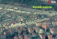 Milli İHA'ların gözünden deprem bölgesi