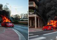 8 milyon liralık Ferrari küle döndü...