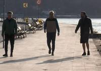 Beşiktaş sahilde sabah sporuna çıktılar!