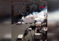 Mamak'ta dezenfekte çalışmasında sokaklar dumanla kaplandı