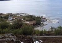 8 ev saniyeler içerisinde sulara gömüldü...