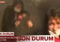 TRT muhabirinin zor anları! Yangın söndürme helikopteri suyu üzerine bıraktı