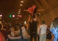Asker uğurlama eğlencesi için Kağıthane Tüneli'ni kapattılar