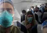 Türbülansa giren Hindistan uçağında yolcuların ölüm korkusu kamerada