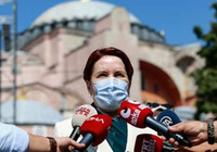 Meral Akşener Ayasofya Camii'ni ziyaret etti