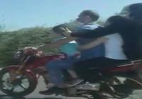 TEM'de tehlikeli motosiklet yolculuğu kamerada