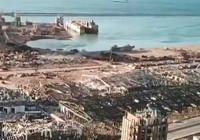 Beyrut'un içler acısı hali havadan görüntülendi