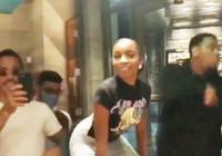 Nusret'e twerk dansı yapan kadın sevgilisine yakalandı