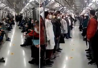 Yenikapı Hacıosman metrosunda, 19:23'te İstiklal Marşı okundu