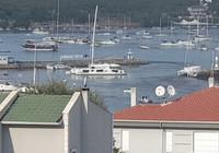 Seferihisar'da deniz taştı, tekneler alabora oldu