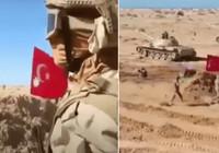 Hafter güçlerinin tatbikatında Türk bayrağı hedef olarak kullanıldı