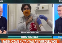 Nagehan Alçı ve Rasim Ozan Kütahyalı canlı yayında aşı oldu