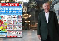 Erdoğan'dan Sözcü gazetesine, Ayasofya tepkisi