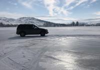 Buz tutan Çıldır Gölü'nde drift