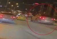 Kartal'da makas atan sürücüyü çekerken kendisi de trafiği tehlikeye soktu