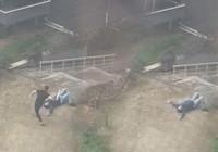 Düzce'de site bahçesinde dehşete düşüren görüntüler