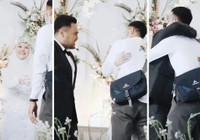 Malezya'da düğünde eski sevgilisine sarılmak istedi damat da onay verdi