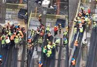 İşçilerin şantiyedeki kavgasını polis ayırdı