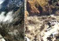 Nehre düşen buzul sele neden oldu: 150 kişi kayıp