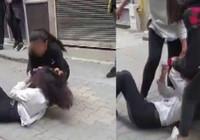 Kız kavgası kamerada! Saçlarından sürükleyip yerden yere vurdu...