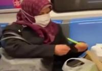 Metroda fasulye ayıklarken çekilen videosu gündem oldu
