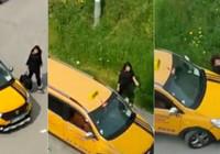 Taciz ettiği kadının üzerine arabayı sürdü