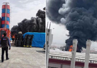 Kayseri'de plastik boru fabrikasında yangın