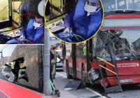 Beşiktaş'taki İETT otobüsü kazasında skandal görüntü