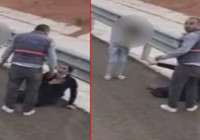 Otoyol kenarında kadına şiddet; Çocuğun gözyaşına bakmadı...