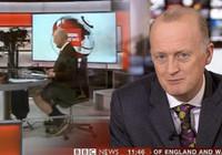 BBC spikeri haber bültenine şortla çıktı