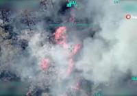 Milli Savunma Bakanlığı, yangın çalışmalarında görev yapan İHA'lardan görüntüler paylaştı