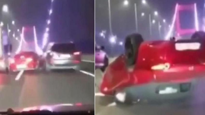 FSM köprüsünde makas atarken kaza yapan sürücüye 1002 lira ceza