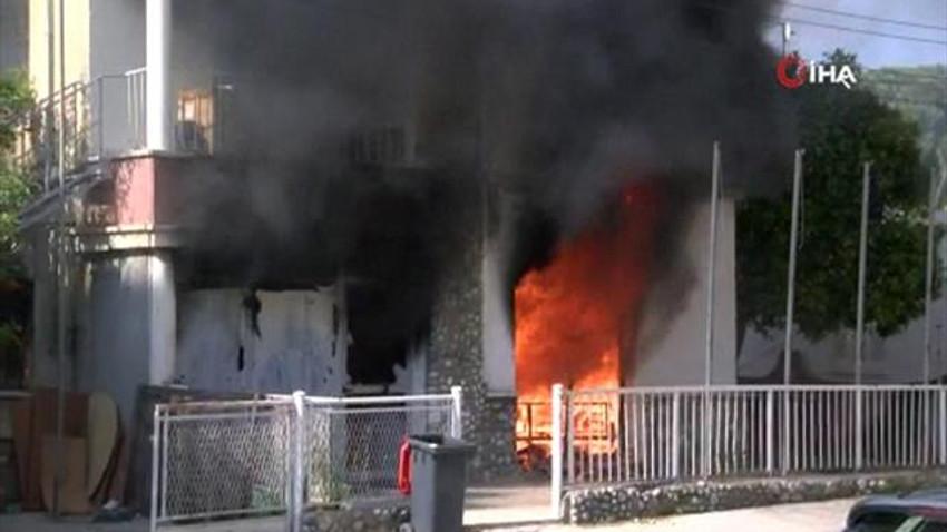 KKTC'de korkutan yangın