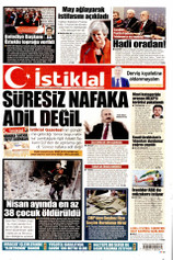 İstiklal Gazetesi Manşeti