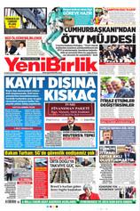 Yeni Birlik Gazetesi Manşeti