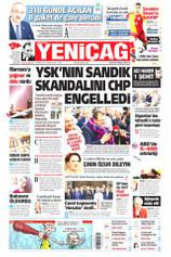 Yeniçağ Gazetesi Manşeti