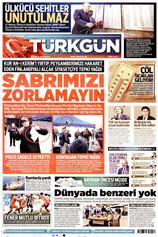 Türkgün Gazetesi Manşeti