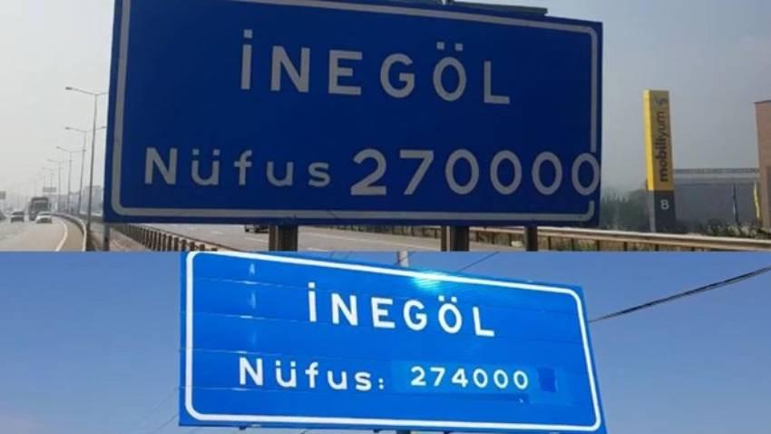 İnegöl Belediyesi nüfusunu yine yanlış yazdı!